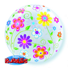 Spring Flowers Bubble Balloon